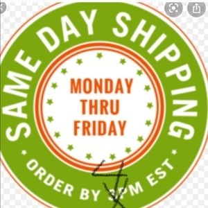 Same day shipping. Sat included order by 1 PM